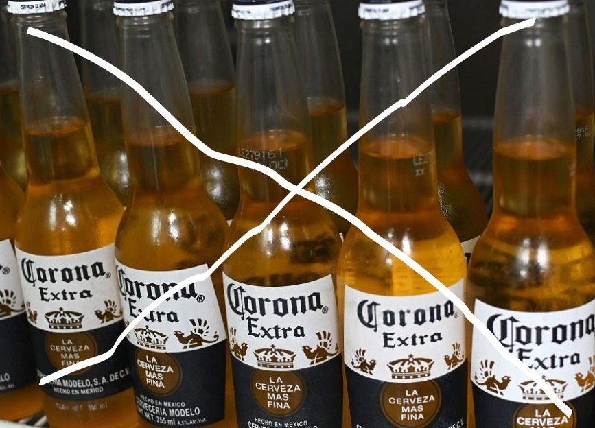 Corona, not the beer